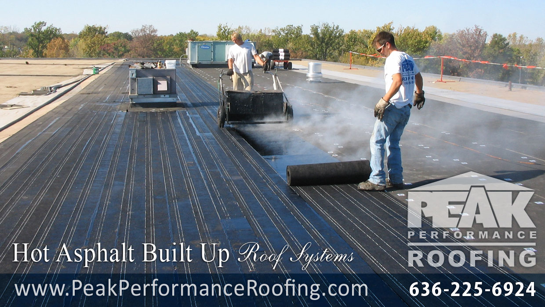 Hot Asphalt Built Up Commercial Roofing